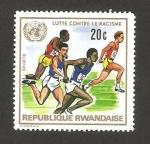 Sellos del Mundo : Africa : Rwanda : deportes, lucha contra el racismo