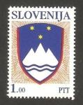 Sellos del Mundo : Europa : Eslovenia : escudo de armas de la república