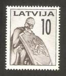 Stamps Europe - Latvia -  cementerio de los soldados de riga, caballero
