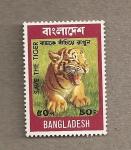 Stamps Asia - Bangladesh -  Salvad al tigre!