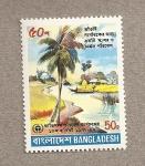 Stamps Asia - Bangladesh -  10 Aniv de la conferencia de la ONU sobre medio humano