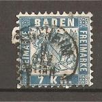 Sellos de Europa - Alemania -  Baden./ Gran Ducado./ Fondo Blanco.