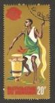 Stamps Africa - Burundi -  nativo tocando el bombo