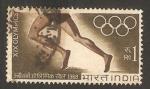 Sellos de Asia - India -  olimpiadas de México 1968, atletismo