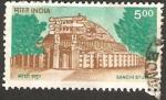 Stamps India -  Monumento budista de Sanchi