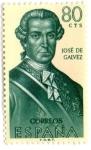 Sellos de Europa - España -  ESPAÑA - Forjadores de América José de Galvez