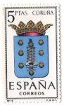 Sellos de Europa - España -  Escudos de provincias - Coruña