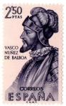 Sellos del Mundo : Europa : España : ESPAÑA - Forjadores de América Vasco Nuñez de Balboa