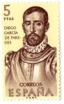 Sellos del Mundo : Europa : España : ESPAÑA - Forjadores de América Diego García de Paredes