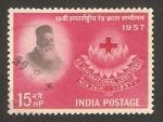 Stamps India -  19 conferencia internacional de la cruz roja, en nueva delhi, henri dunant