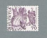 Stamps Switzerland -  Processione di Mendrisio (repetido)