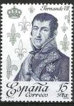 Stamps Spain -  2501 Reyes de España. Casa Borbón. Fernando VII.
