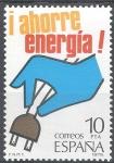 Sellos de Europa - España -  2510 Ahorro de Energía. Electricidad.