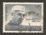 Stamps India -  muerte de nehru, político