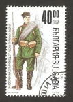 Sellos del Mundo : Europa : Bulgaria : uniforme de soldado en la guerra ruso turca