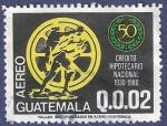 Stamps Guatemala -  GUATEMALA Crédito Hipotecario 0.02 aéreo