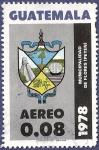 Stamps Guatemala -  GUATEMALA Municipalidad de Flores 0.08 aéreo