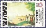 Stamps Guatemala -  GUATEMALA Generals at York Town 0.25 aéreo
