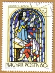 Stamps of the world : Hungary :  Vidrieras religiosas