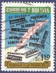 Stamps Bolivia -  BOLIVIA Homenaje a la prensa 1.50