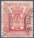 Stamps Chile -  CHILE Fundación Angol 1953 2