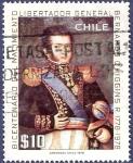 Sellos de America - Chile -  CHILE Libertador O'Higgins 10 (1)