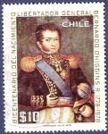 Stamps Chile -  CHILE Libertador O'Higgins 10 (2)