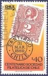 Stamps Chile -  CHILE Sociedad filatélica 40