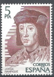 Stamps of the world : Spain :  2512 Personajes. españoles. Jorge Manrique.
