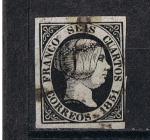 Stamps Europe - Spain -  Edifil  6   Reinado de Isabel II