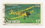 Stamps Canada -  Aeroplanes (de Havilland Tiger Moth)