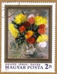 Sellos de Europa - Hungría -  Temas florales CUADROS