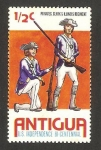Stamps : America : Antigua_and_Barbuda :  II centº de la independencia
