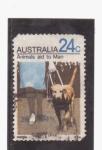 Stamps Australia -  Animales ayudando al humano