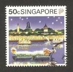Stamps : Asia : Singapore :  Barco, en el Año Nuevo Chino