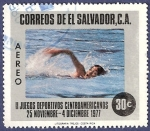 Sellos de America - El Salvador -  EL SALVADOR Juegos deportivos centroamericanos 30 aéreo