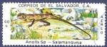 Stamps El Salvador -  EL SALVADOR Salamanqueja 60 aéreo