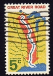 Stamps United States -  Great River Road