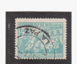 Stamps of the world : Bolivia :  revolución popular del 21 de julio de 1946