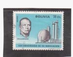 Stamps Bolivia -  XXV aniv. de su inmolacio - villarroel