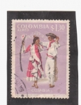 Stamps Colombia -  cumbia