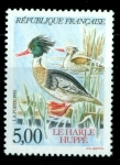 Stamps : Europe : France :  Harle Huppé