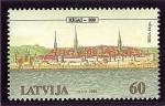 Stamps Europe - Latvia -  Centro histórico de Riga