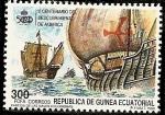 Sellos de Africa - Guinea Ecuatorial -  V Centenario Descubrimiento de América  - Partida de las naves