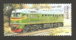 Stamps Europe - Ukraine -  locomotora diesel M62