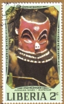 Stamps Liberia -  African Mask - BAPENDE