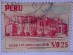 Sellos de America - Perú -  Escuela de Ingenieros