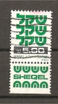 Sellos de Asia - Israel -  Serie Basica / Con Bandeleta.