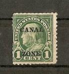 Stamps Panama -  Sello de EEUU de 1922-26 sobrecargado