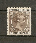 Stamps Europe - Puero Rico -  Alfonso XIII  (pelon)   Puerto Rico